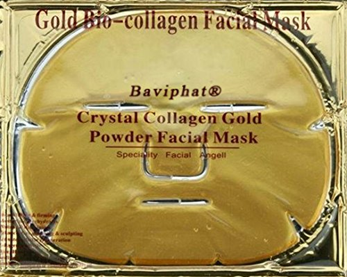 4er Set - Originale Power Collagen Gesichtsmaske mit Q10 und Hyaluronsäure # Naturell ohne Duft #...