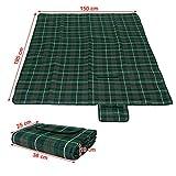 Songmics 195 x 150 cm Picknickdecke wärmeisoliert wasserdicht GCM50G -