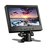 CAIRUTE 7 Inch 1024x600 TFT LCD Color Display Screen Video HDMI VGA AV HD Monitor for Raspberry Pi 3B+ / PC/Home Security/CCTV Camera/Snake Camera/DVR/DVD/DSLR