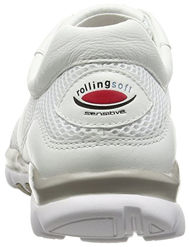 Gabor  Helen, Sneakers Basses femme Blanc - White (White Mesh/Leather)