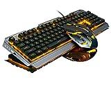 Gaming tastiera e mouse Combo cablato arcobaleno LED retroilluminato, piastra metallica, 4livelli fino a 3200DPI per computer PC & Mac giocatori
