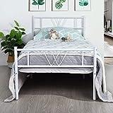 Aingoo Lit Enfants 90x190 cm, Lit Simple en métal Design Cadre de lit avec sommier...