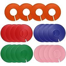 DreamTop separadores 20 pcs tamaño de ropa accesorio de divisores en blanco Multicolor redondo de perchas