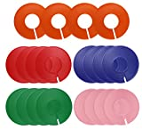 Dreamtop 20 Pcs Multicolor Clothing Rack Size Dividers Blank Round Hangers Dividers for Closet ,Retail Clothing Racks