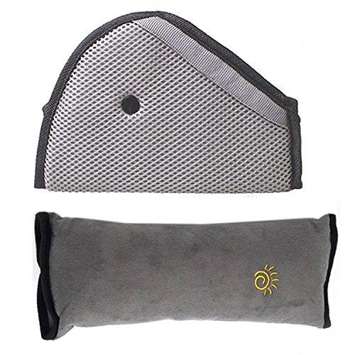 Kinder Autositz Reisekissen Nackenstütze Kissen Pad Kopfstütze und Gurteinsteller Stellungsregler Set
