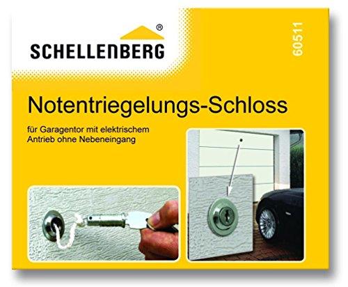 Schellenberg 60511 - Chiavistello con sistema di sblocco d'emergenza per garage
