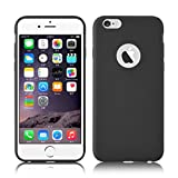 iPhone 6 / 6s Silikonhülle | JAMMYLIZARD Ultra Slim Handyschale 0.8mm Skin Case Hülle [Jelly Back Cover] Schutzhülle aus mattem TPU-Silikon, Schwarz