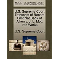 U.S. Supreme Court Transcript of Record First Nat Bank of
