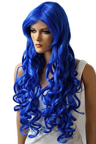 Prettyshop parrucca da donna fashion lunga 90cm hair ricci ondulati wavy resistente al calore vari colori