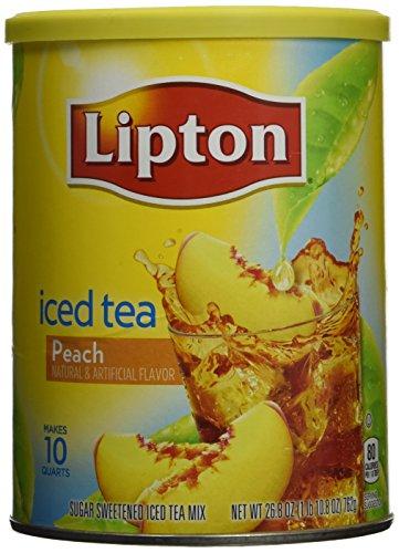 Lipton Iced Tea Peach Drink Mix Makes 10 Quarts 762g Tub