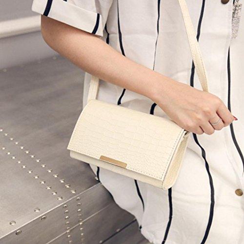 BZLine® Mode Frau Crossbody Schulter Taschen Handtasche, 21cm*24cm*13cm Beige