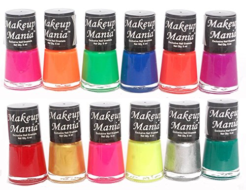 Makeup Mania Exclusive Nail Polish Set of 12 Pcs (Multicolor Set # 74)