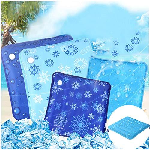 VNEIRW Platz Print Stuhlkissen Sitzkissen Kühlmatte, Schneeflocke Wassertröpfchen Drucken Komfort Cool Eispad mit Kühlfunktion, Home Küche Büro Sofa Stuhl Sitz weiche Kissen Pad, 36x36CM (C) -