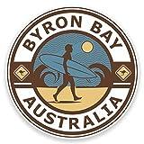 2 x 20cm/200mm Byron Bay Australien Fenster kleben Aufkleber Auto Van Wohnmobil Glas #9245