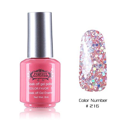 Perfect Summer 1PCS 8ml Vernis à Ongles Semi Permanent UV LED Soak Off Gel Polish Nail Art Manucure 8ml Couleur #216