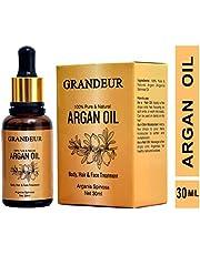 Grandeur 100% Pure & Natural Moroccan Argan Oil 30ml, for Dry and Coarse Hair & Skin care 30mL