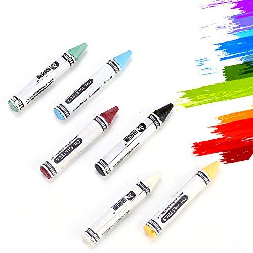 Crayon Kinder Kostüm - 6 farben ungiftig waschbar gesicht malerei kits, neon körperbemalung buntstifte pigment kinder kinder gesicht malerei glow fluoreszierende fußball für halloween, ostern, karneval kostüme, cosplay