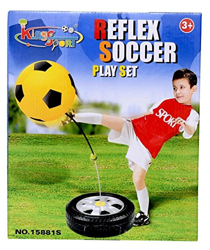 BEST SELLER PoshTots Kids High Quality unique outdoor game Training Play Set Reflex Soccer Football Sports Swing ball Play Set - Gift Toy