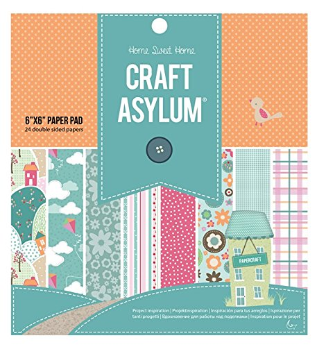 Craft Asylum 6 x 6 Home Sweet Home Papier Pad -