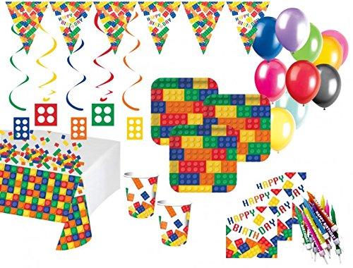 XXL 61 Teile Bausteine Party Set für 8 Kinder