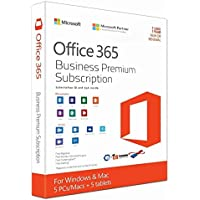 Microsoft office 365 Business Premium subscription for Windows and MAC 5pcs or MAC /User(CD)