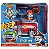 Paw Patrol 6054195 - Ferngesteuertes RC Fahrzeug Marshall, Feuerwehrauto rot, mit Figur