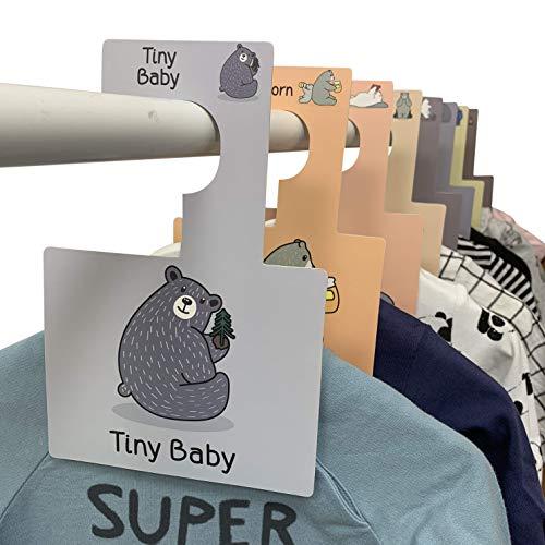 Belo + Me Babygarderobe Trennwände | Waldbären | Verpackung von 16 | Doppelseitige Garderobenbügel | Passend für alle Standard-Kindergartenschienen (Waldbären) -