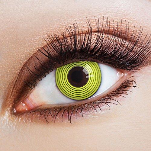 Originellsten Kostüm - aricona Kontaktlinsen bunte farbige Kontaktlinsen gelb schwarz zum Cosplay Kostüm