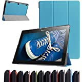 "Lenovo Tablet2-X30F / A10-30 Ultra Funda,Mama Mouth Ultra Slim Ligera PU Cuero Con Soporte Funda Caso Case para 10.1"" Lenovo TAB 2 A10-30 / Tablet2-X30F Android 5.1 Tablet,Azul"