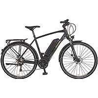 Prophete Herren E-Bike Alu-Trekking 28 Zoll Aeg Entdecker e8.8 Elektro-Fahrrad, Schwarz Matt, M