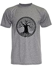 PALLAS Unisex's Tree of Life Symbols T Shirt