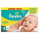 PampersNuevo Tamaño Del Bebé Pack 2 (Mini) Jumbo 70 Pañales