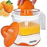Monzana® Entsafter XXL Saftpresse Zitruspresse elektrische Presse Fruchtpresse Zitronenpresse • 40W • 1200ml • spülmaschinengeeignet • für Orangen Zitronen Limetten Mandarinen Grapefruits