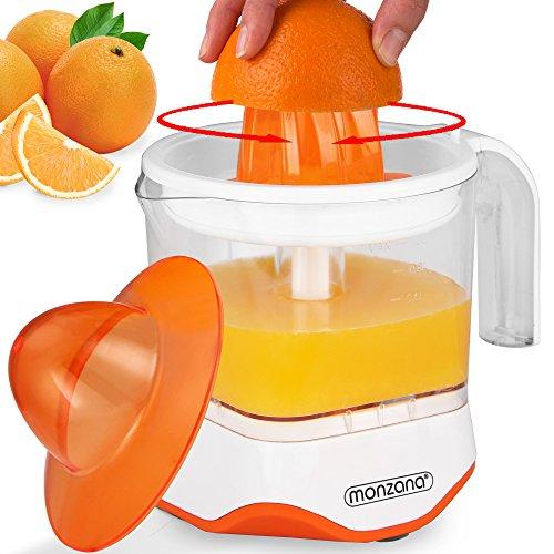 Monzana® Entsafter XXL Saftpresse Zitruspresse elektrische Presse Fruchtpresse Zitronenpresse ✔40W ✔1200ml ✔spülmaschinengeeignet ✔für Orangen Zitronen Limetten Mandarinen Grapefruits