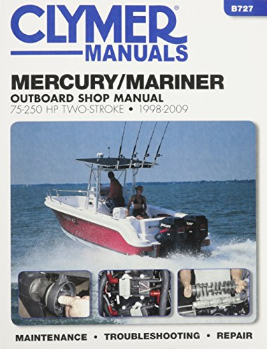 mercury-mariner-75-250-hp-2-stroke-outboard-motor-repair-manual-1998-to-2009-haynes-clymer-outboard-
