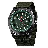 Orologio uomo Zeiger Orologio da polso da uomo Orologio Sports Militar cinturino in Nylon calendario semplice stile orologio regalo per l'uomo Verde W283FR-FBA