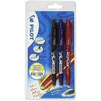 Pilot - Set 3 bolígrafos, color negro, azul y rojo