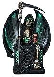 colourliving Dekofigur Sensenmann Grim Reaper Skelett mit Sense und LED Fantasy Figur Gothic Mystery