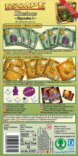 QUEEN-GAMES-61031-ESCAPE-ESPANSIONE-1-ILLUSIONS-LINGUA-INGLESE-Nuovo-Giocattolo