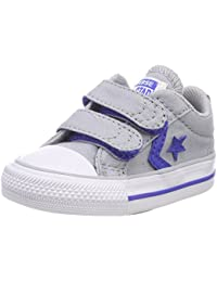 Converse Unisex Kids' Star Player EV 2v Ox Wolf Grey Trainers