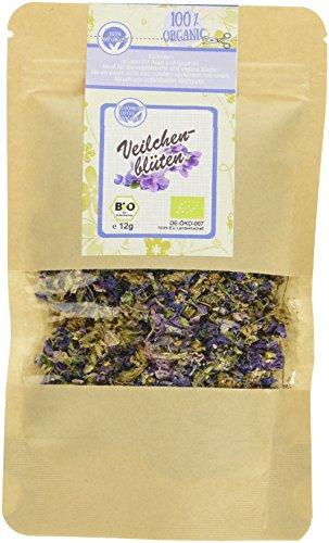 direct&friendly Bio Veilchenblüten im Nachfüllpack, 3er Pack (3 x 12 g)