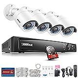 ANNKE 8CH 4.0MP POE NVR Überwachungssystem, Netzwerk Video Recorder + 4×4 Megapixel IP Überwachungsskameras mit 3TB Überwachung Festplatte, POE Plug und Play, Bewegungserkennung mit E-Mail Alarm