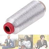 ECYC® Computer Kreuzstich Stickgarn Linie Textil Metallic Garn gewebte Stickgarn Nähgarn, Silber