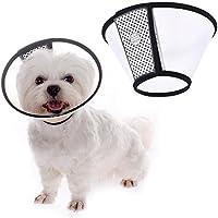 Ducomi Elizabethan - Collar Protector Ajustable para Perros y Gatos - Cono Isabelino Antiarrugas Anti-mordeduras - Ayuda a Acelerar la Curación de Las Heridas de Perros y Gatos (XS: 15-17 cm)