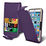 ( Dark Purple 147.1 x 68.08 mm ) Tasche SchutzHulle fur Vodafone Smart N9 2018 case cover pouch Thin Faux Leather Spring Clamp Adjustable Flip case cover Skin With Credit/Debit Vodafone Smart N9 2018 case by i-Tronixs