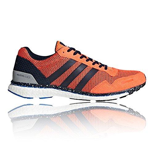 adidas Adizero Adios, Chaussures de Running Compétition Homme, Orange Orange (Hi-res Orange/collegiate Navy/hi-res Blue)