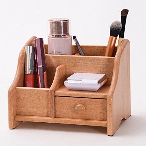 Étui cosmétique HWF Rangement de la Boîte de Rangement Type de tiroir Sort Sortant Home Wood Organisateur