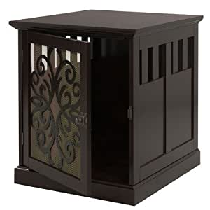 Large Wooden End Table Pet Cage or Crate for Cats or Dogs by Large Wooden End Table Pet Cage or Crate for Cats