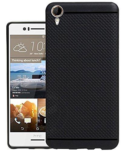 Jkobi 360* Protection Premium Dotted Designed Soft Rubberised Back Case Cover For HTC Desire 830 dual sim -Black