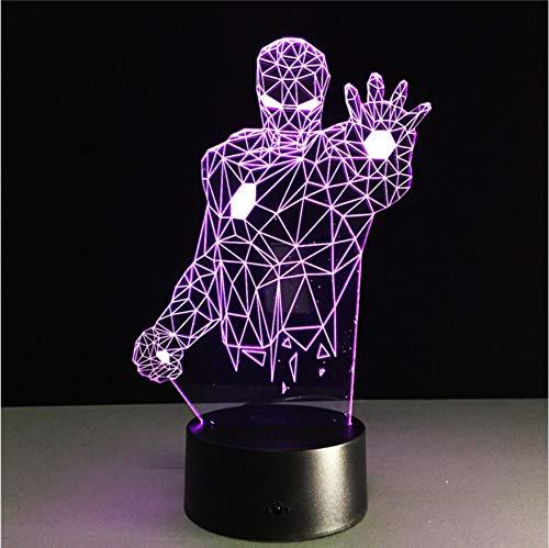 Usb Lade Bunte Änderung Marvel 3D Licht Iron Man Batman Spiderman Kinder Nachtlicht Kunst Dekor Tischlampe Fantastische Licht